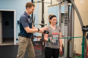 Dayton NJ Physical Therapist Justin Sampson using blood flow restriction training