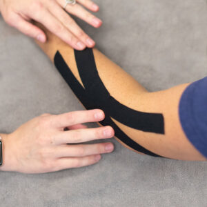 Kinesio Taping of Tennis Elbow by Toms River, NJ Hand Therapist